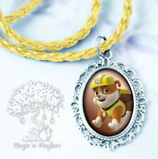 Rubble Necklace - Handmade Children's Jewelry - Paw Patrol