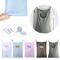 Hanging Laundry Bag Dirty Clothes Washing Bin Hamper Foldable Storage Basket