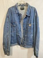 Mens Polo Country Ralph Lauren Denim Jean Work Jacket Made In USA