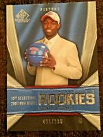 RODNEY STUCKEY RC 2007-08 PISTONS SP Game Used 431/999 AUTHENTIC ROOKIE #155 NBA