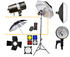 Strobe Flash 150W Studio Light Umbrella Barndoor 5500K Dimmable Photography UK