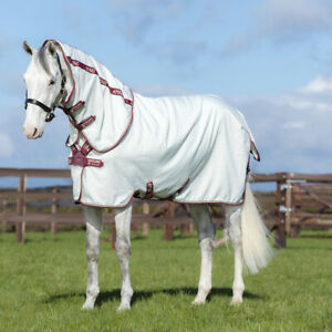 Horseware Amigo Aussie All Rounder Disc Front - White & Green check/Forest green