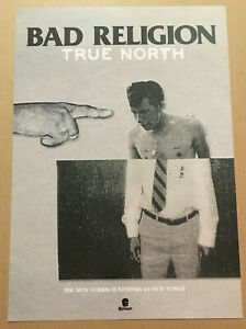 BAD RELIGION Rare 2013 LIMITED PROMO POSTER for True North CD 13x19 MINT USA