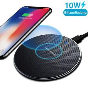 Wireless Charger Qi Ladegerät Induktive Ladestation Kabellos Iphone Samsung NEU