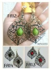 FA13 (Red) Vintage Statement Drop Earrings - Gift Ideas