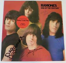 "RAMONES Signed Autograph ""End Of The Century"" LP by 4 Joey Ramone, Johnny, Dee"
