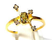 Radiant Pave Diamond 9 carat Solid gold Jewelry Ring Ethiopian Opal Gems Ring