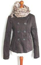 DAMENBLAZER JACKE Jacket Blazerjacke Cardigan Mantel Gr M 38 40 coffeebraun K53