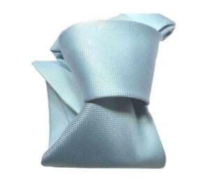 Cravate Turquoise Clair Blu Ciel en Soie Offre Cravate De Soie Made IN Italy