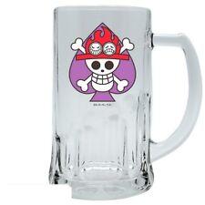 One Piece - Glas Bierkrug - Portgas D. Ace Logo - 500 ml