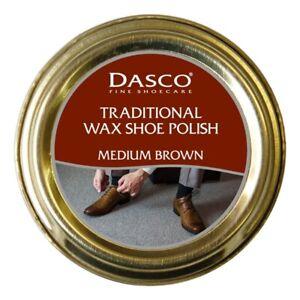 Dasco Traditional Wax Shoe Polish Boot Polish Medium Brown