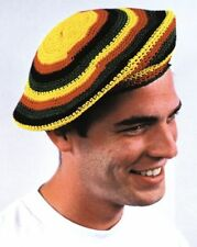 Rasta Tam Hat Jamaican Knit Red Yellow Green Black Jamaica Cool Bob Marley