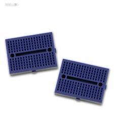 2x Breadboard Experimentierbrett BLAU Laborsteckboard Steckplatine Platine