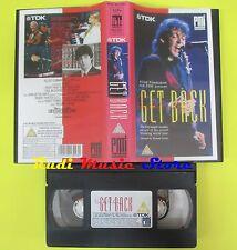 VHS PAUL MCCARTNEY Get back 1991 BEATLES PMI MVD 9913093 89 min no cd lp*mc(VM4)