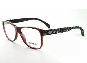 CHANEL 3245 c.539 Tweed Bordeaux 51/15/140 Eyeglasses Glasses Made In Italy