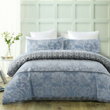 300TC Jacquard Quilt Cover Set BARCELONA Ice Blue Doona Duvet QUEEN Polyester