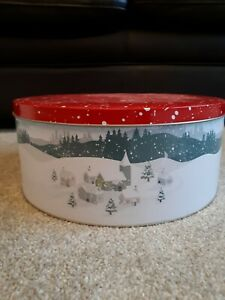 Waitrose Christmas Metal Cake Tin