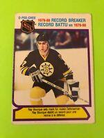 Ray Bourque O-Pee-Chee NHL Hockey Card #2 1980-81 Record Breaker