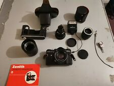 Zenit EM 35mm Camera, and extras