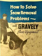 Gravely 1952 L Walk-Behind Snow Plow Garden Tractor COLOR Sales Catalog Manual