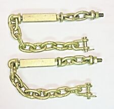 2 Universal 3 Three Point Hitch Chain Stabilizer Turnbuckle Sway Check 23-25