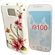 DESIGN BUTTERFLY No.5 SILIKON TPU COVER CASE + Displayschutzfolie SAMSUNG I9100