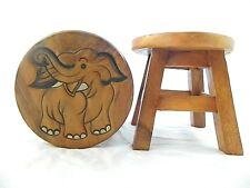 Kinder Kinder Holz Hocker-Elefant Natural Step Hocker
