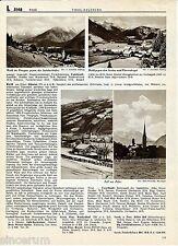 Zell am Ziller Wald im Pinzgau 1939 orig. Photoblatt Mayrhofen (20 Hotels/Pens.)