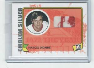 2009 ITG 1972 The Year in Hockey M-07 Marcel Dionne Red Wings Emblem Silver 1/3