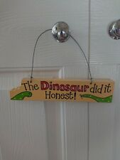 Dinosaur Themed Door Hanger