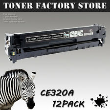 12PK CE320A 128A Black Toner For HP Color LaserJet Pro CM1415 CM1415fn CM1415fnw