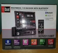 DUAL Car Stereo CD/DVD Radio USB SD 7in Flip Touchscreen Bluetooth XDVD110BT NEW