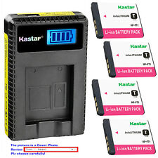 Kastar Battery LCD USB Charger for Sony NP-FT1 & Sony Cyber-shot DSC-T5/N
