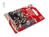 20 Ösen mit Scheiben + Werkzeug - 10 x 5,5 x 5 mm - KOH-I-NOOR - Nickel silber