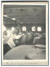 Algérie, La Salle à Manger du Charles Roux  Vintage silver print Tirage argent
