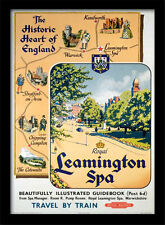 Leamington Spa Voyage par Train - Encadré 30 X 40 Officiel Imprimé