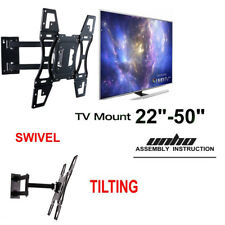 UNHO Slim Tilt & Swivel TV Wall Mount Bracket 26 32 40 42 43 47 48 49 50 inch
