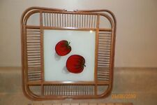 Vintage Delicate Wooden Serving Tray With Handles , Japan