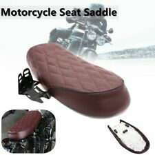 Motorcycle Cafe Racer Flat Saddle Seat Hump Cushion For Honda CG125 Yamaha SR