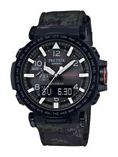 Casio Pro Trek Men's Solar Ana-Digi Camo Canvas Strap 51mm Watch PRG650YBE-3