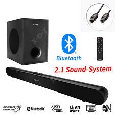 60W Surround Bluetooth Soundbar Subwoofer TV Sound System Heimkino Lautsprecher