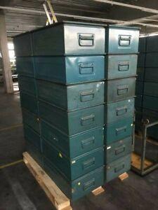 28X Schäfer Stapelkasten aus Stahl, für schwere Güter, grün