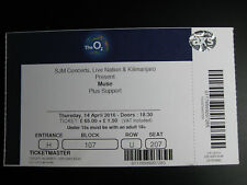 MUSE  O2 LONDON  14/04/2016  TICKET