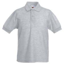 Magliette e maglie camicia polo grigi a manica corta per bambini dai 2 ai 16 anni