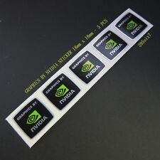 5 Pcs  Nvidia Sticker 18mm x 18mm