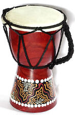 Djembe 14 cm Tambour Tam Tam Bongo Instrument Musique Bois Artisanat djembé
