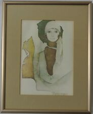 """Simone"" by Christine Rosamond Lithograph framed"