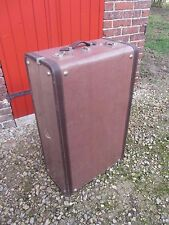 ANCIENNE GRANDE VALISE MALLE VINTAGE FRENCH TRUNK SUITCASE