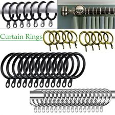 Metal Curtain Rings Hanging Hooks for Curtains Rods Pole Voile Heavy Duty Rings^
