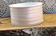 (0,16€/m)  50m Satinband creme Schleifenband 6mm Taufe Kommunion Hochzeit